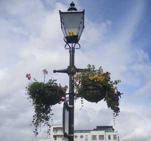 Flower baskets in Athlone