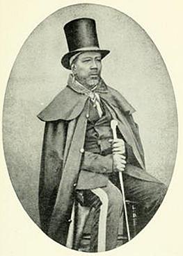 Chief Moshoeshoe circa-1854
