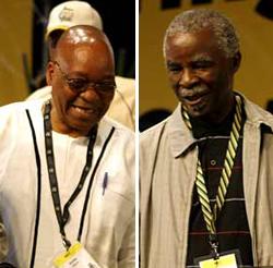 Zuma and Mbeki