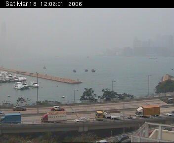 Pollution Over Victoria Harbor