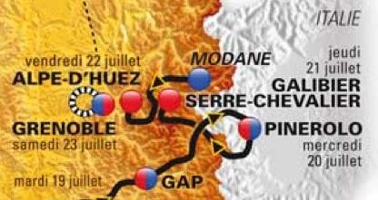 2011 Tour de France Route Map