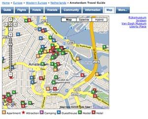 Amsterdam BnA Map