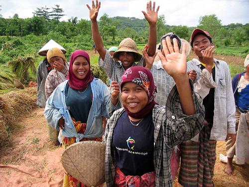 Lombok Rice farmers