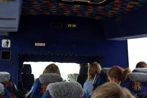 inside fraser tour bus