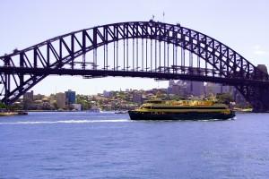 bridge and ferry