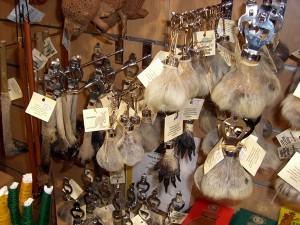 kanga scrotum key chain
