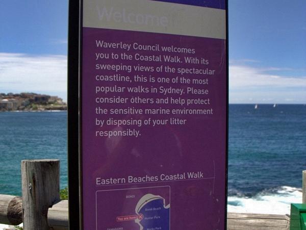 coastal walk sign