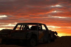 coober pedy sunset