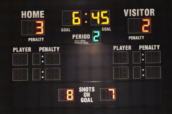 ice hockey scoreboard